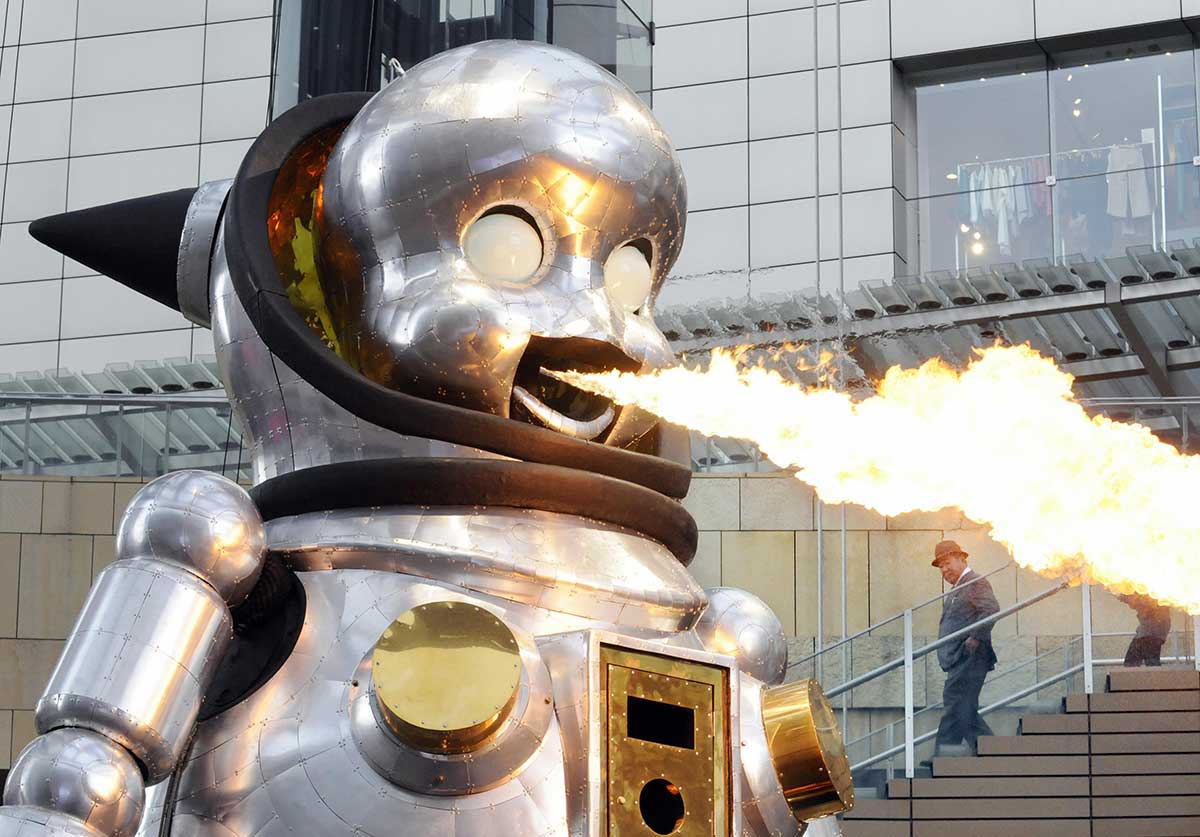 arte, robots