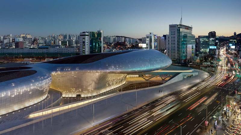 Dongdaemun Design Plaza, Corea, Seul, Zaha Hadid ®Virgil Simon Bertrand