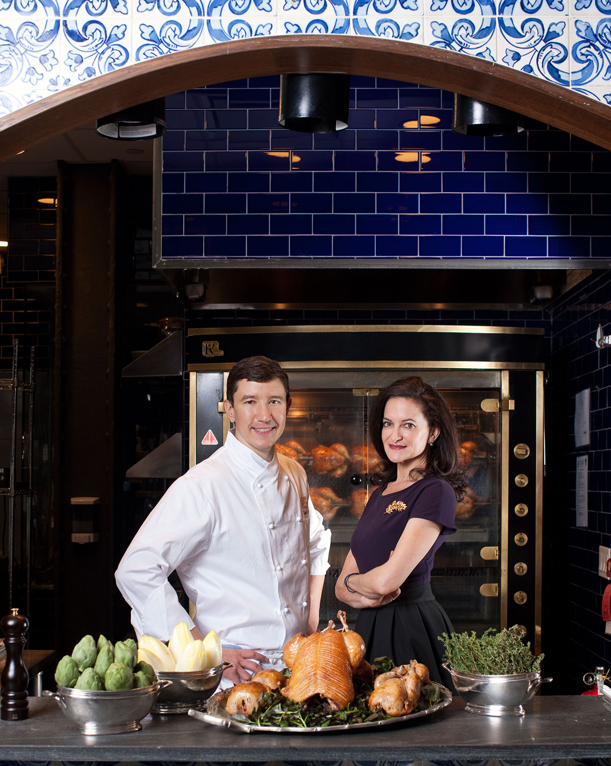 Georgette Farkas y el chef Chad Brauze
