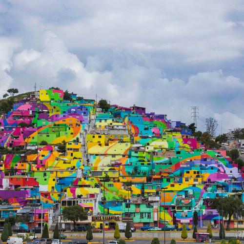 El MacroMural de Palmitas, combatir la violencia urbana con brochas y colores
