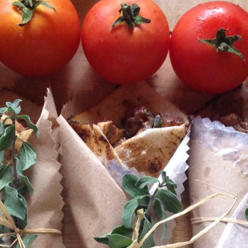 Wraps de auyama y quinoa rellenos con pechuga de pollo