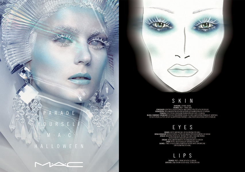 Maquillaje de la-Reina-de-Hielo-por-Lacie-Dawn