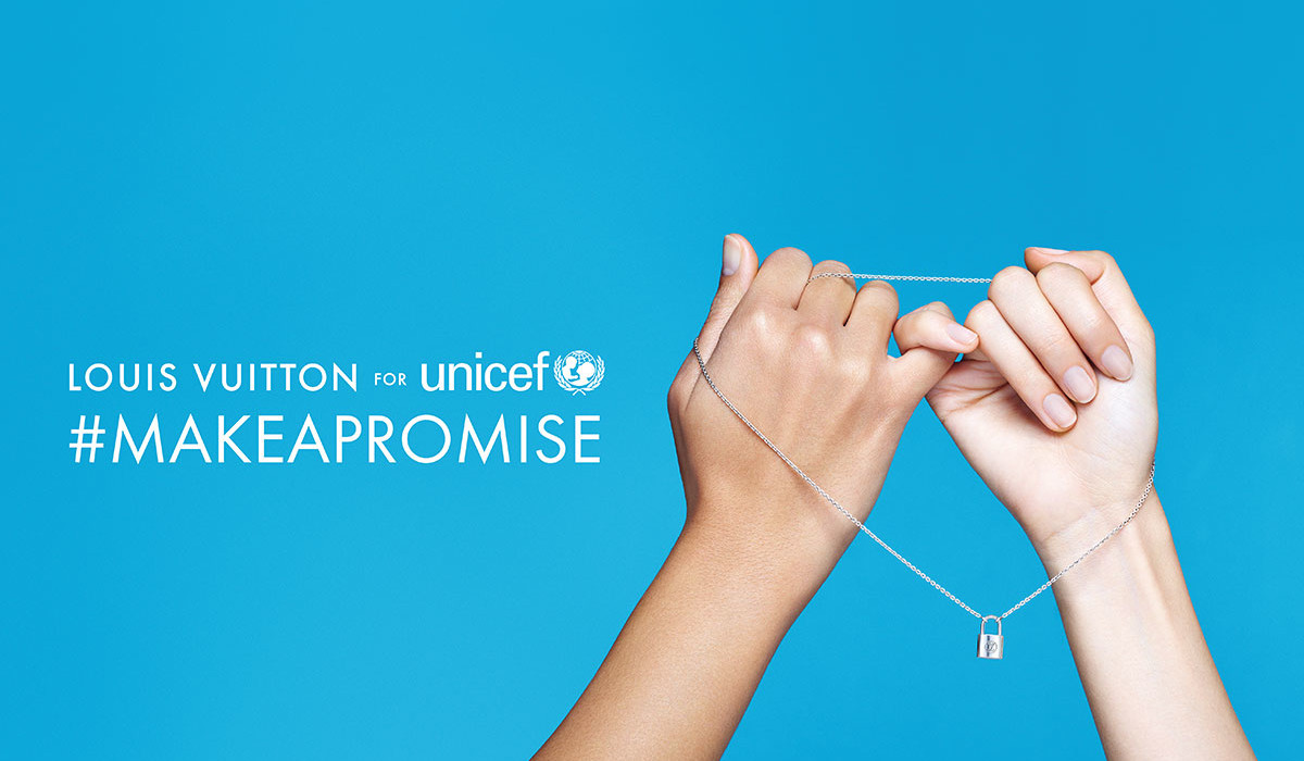 Louis Vuitton y UNICEF, Make a Promise