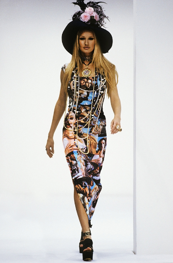 Venus Dress Look 15 Dolce and Gabbana SS Fashion Show in Milan Italy 1993 Model  Karen Mulder