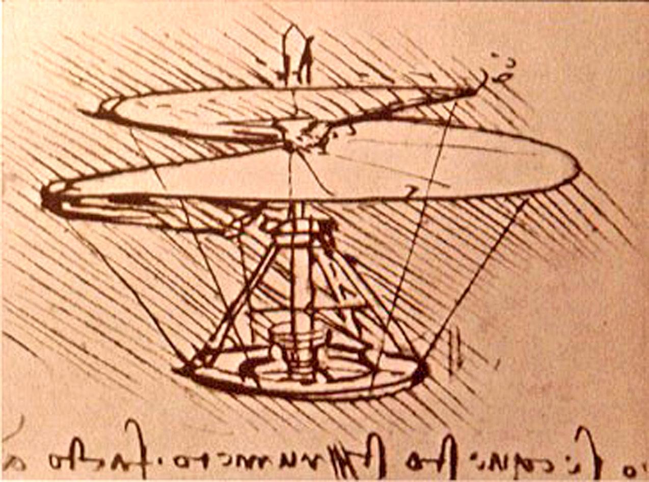 El helicoptero de Lenoardo Da Vinci