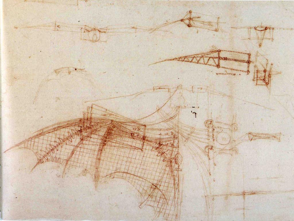 las maquinas voladoras de Da Vinci