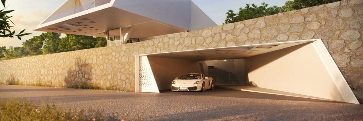Villa F, una casa geométrica frente al mediterráneo
