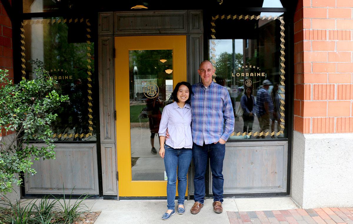 Anne NG y Jeremy Mandrell de Bakery-Lorraine-San-Antonio