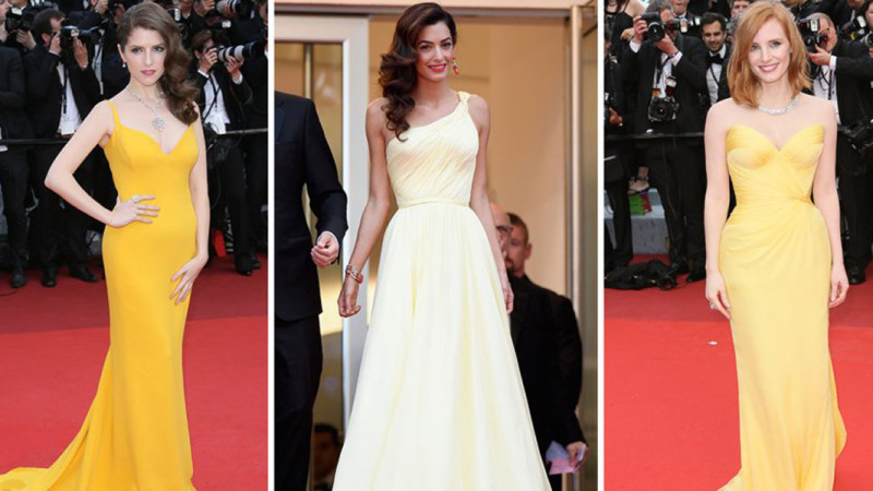 yellow red carpet cannes