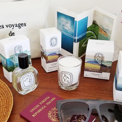 Diptyque Les Voyages, un lujo en tamaño viaje