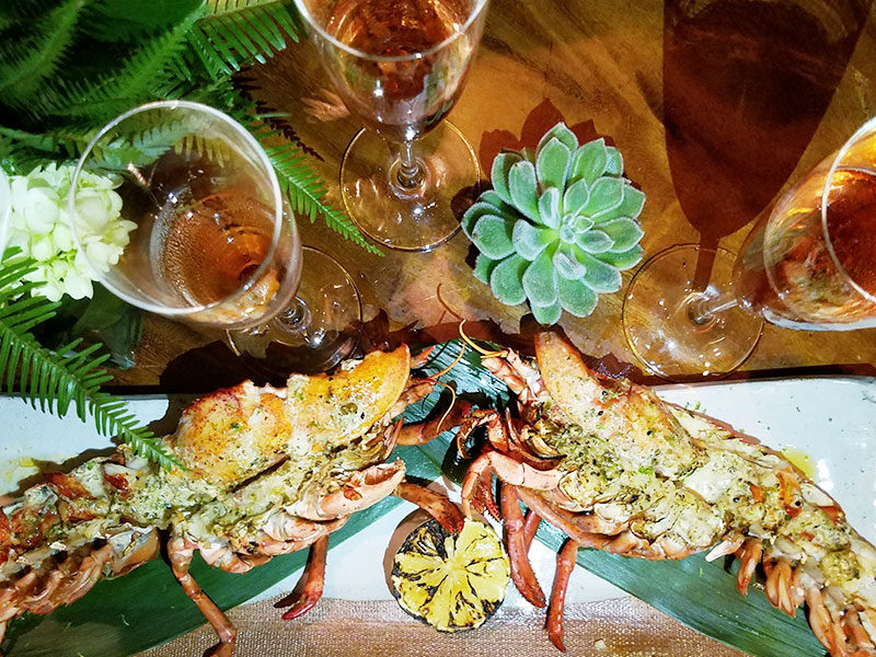 champagne-taittinger-miami-langosta