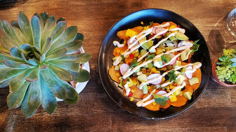Sweet Potato nachos en Fred's-Ann-Arbor