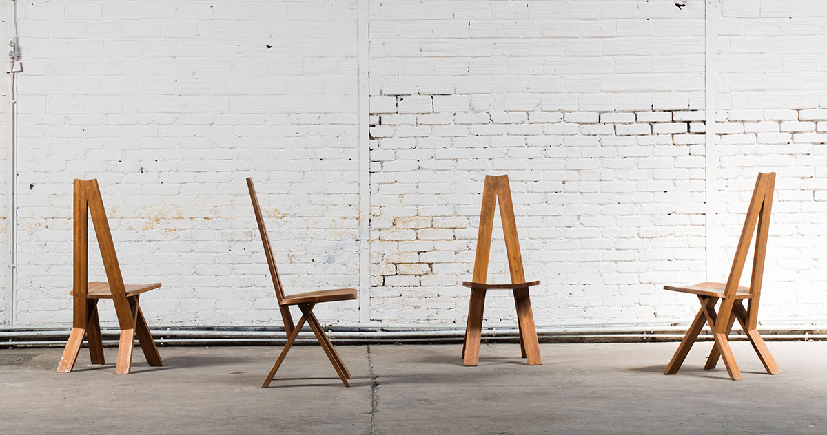 S45-All-wood-Chlacc-chair-by-Pierre-Chapo-1979,-courtesy-of-Magen-H-Gallery
