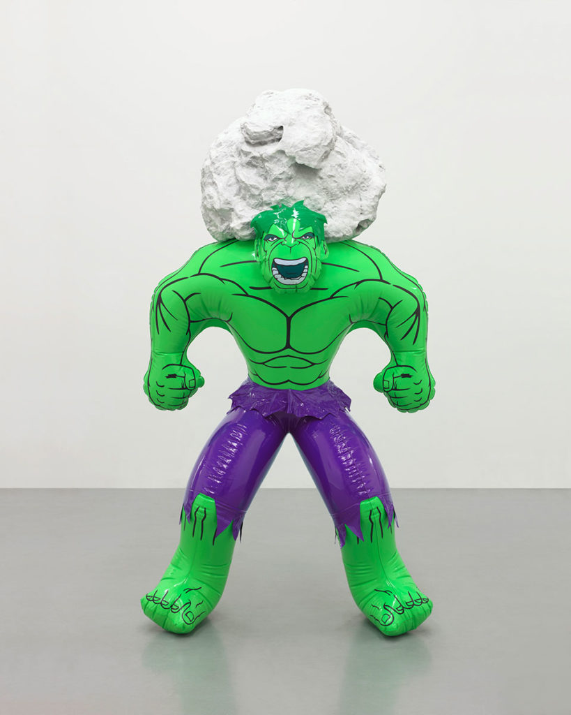 Jeff-Koons-Hulk-(Rock),-2004-2013,-polychromed-bronze-and-marble-Photo-Tom-Powel-Imaging