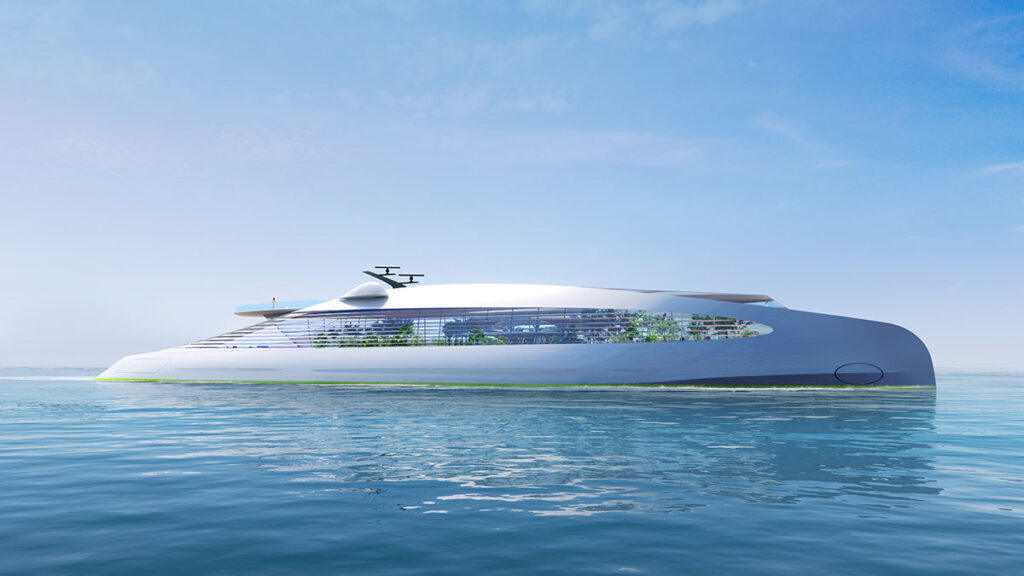 VY-01 green-house-co2-emmision yacht